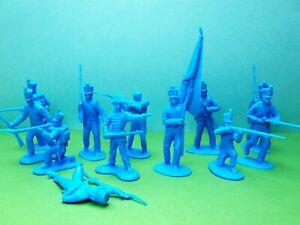 CTS 1/32 scale Napoleonic Infantry 1st series x12 (blue)