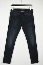 DENHAM BOLT SKINNY FIT Men's W30/L30 Very Stretchy Faded Buttons Jeans 41979_GS