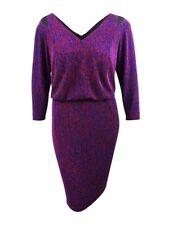 Calvin Klein Women's Plus Size Metallic Blouson Dress