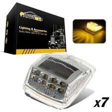 (7) Clear/Amber 17LED Cab Roof Running Top Marker Reflector Lights Truck Trailer