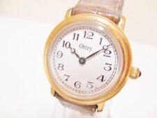 Auth Obrey 713002.3-B6 Brown Gold Women's Wrist Watch