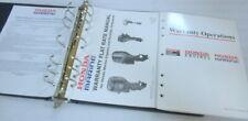 Honda Marine Warranty Operation Outboard Motor Service Repair Manual OEM Binder