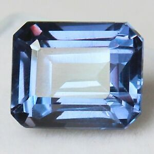 Natural Alexandrite Excellent Loose Gemstone Certified Emerald  Shape Color Changing Stone 6.40 Ct