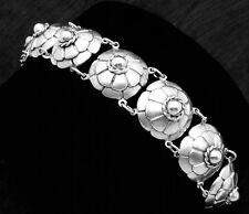 Vintage Rafael Melendez Taxco Mexican 980 Silver Chunky Classic Bracelet 18611