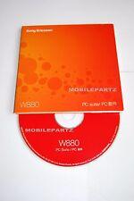 Genuine SONY ERICSSON W880i CD del software de disco PC Suite XP compatible