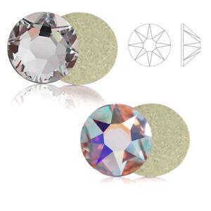 1440pcs Shiny AB & Clear Glass Crystal Non Hotfix Flatback Rhinestones Nail Art