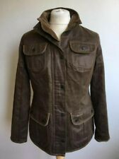 BARBOUR WOMENS L1880 WEATHER WORKED BROWN UTILITY JACKET SIZE UK 14 COAT
