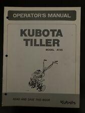 Kubota At 25 Tiller Walk Behind Operators Manual