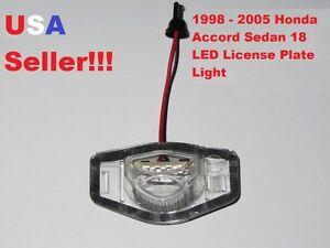 White LED License Plate Light Lamp 6000K for 1998 - 2001 Honda Accord Sedan