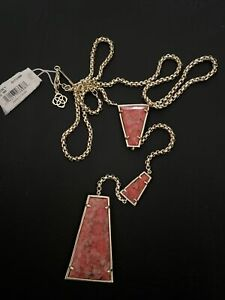 NWT Kendra Scott Collins Y Necklace Red Magnesite $138.00