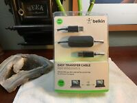 Factory SEALED Belkin Easy Transfer Cable For Windows 8 USB 2.0 8 Foot-2.4M New