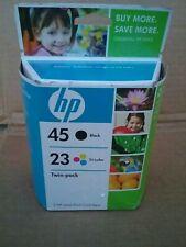 Genuine Original HP 45/23 Black Tri-Color Combo 2pk Ink Cartridges SEP  2009 Exp