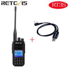 New Retevis RT3S DMR UHF VHF 3000CH DCDM TDMA Digital  Walkie-Talkie +USB Cable