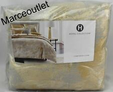 Hotel Collection Metallic Stone KING Duvet Cover Gold