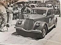 grande foto gara corsa auto d'epoca Lancia Aurelia targa napoli animata anni '50