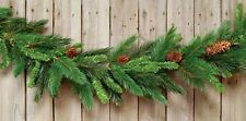 New Country Cabin Rustic Lodge Christmas MAJESTIC PINE CONE GARLAND Swag 9ft