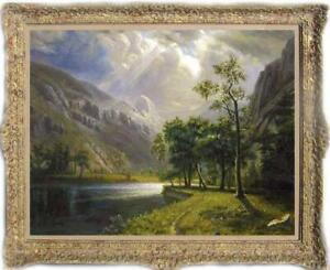 """Old Master-Art Antique Landscape oil Painting forest tree on canvas 30""""x40"""""""