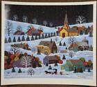 1995 Snowfall in Goose Creek Jane Wooster Scott Signed Numbered Art Print Litho