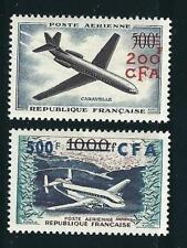 France Reunion Stamps C46-47 Y&T PA 56-57 MNH VF 1957-58 SCV $50.00