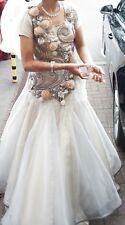 Zebaish London Beautiful Weddind/ Engagement Party Dress Gown Size 8-10 Rrp£1400