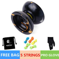 Magic YOYO Ball N11 Splash Aluminum Alloy Kids Toys Gift Black 5 String 1Bag ra