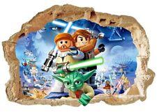 Lego star wars Wandtattoo 3D Wandaufkleber Kinderzimmer wall stickers 53cmx73cm
