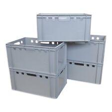 5 x E3-Kiste Stapelbox Kunststoffbehälter Kiste Eurokiste Eurobox Lagerbox grau.