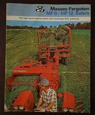 Massey Ferguson, MF9, MF12, Hay Baler, Brochure, Farm, Tractor, Equipment, Ad