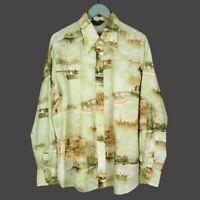 Vintage Chemise Et Cie Peaceful Harbor Button Disco Shirt Mens Size XL