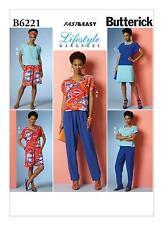 Butterick Lifestyle Wardrobe Very Easy Pattern B6221 Top Dress Pants Sz 16-26