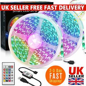 LED Strip Lights USB 5050 RGB 1M-5M Color Light TV Bluetooth Control Lighting UK