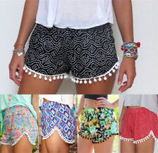 UK Summer Women Ladies High Waist Casual Floral Beach Hot Pants Shorts Size 6-14