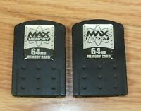 Lot of 2 MAX Memory 64MB Memory Card For Sony PlayStation 2 (PS2) **READ**
