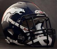 ***CUSTOM*** DENVER BRONCOS NFL Riddell Speed AUTHENTIC Football Helmet