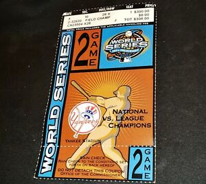 2003 World Series New York Yankees vs. Marlins Home Game 2 Ticket