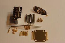 "NEW FENDER USA Stratocaster GOLD 2 3/16"" tremolo Body HARDWARE SET Strat Guitar"