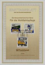 """Berlin MiNr 876-878 ETB 13-90 """"Wohlfahrt 1990"""" : -Postkommunikation-Bahnpost-"""