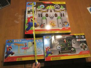 Nintendo Super Mario Deluxe Playset Bowser Castle + Boo Mansion + Cloud  LOT SET
