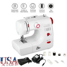 Portable Household Automatic Sewing Machine Desktop Tailor 16 Stitches 2 Speed