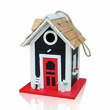 New listing Wooden Hanging Birdhouse Country Cottages Bird House Outdoor Decor Garden