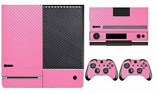 Pink Carbon Fiber Cover Skin Sticker for Xbox One & Kinect & 2 controller skins