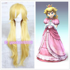 Popular Super Mario Brothers Princess Mary Peach Princess Peach Long cosplay Wig