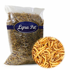 5 kg Mehlwürmer getrocknet LyraPet Futter für Fische Nager Vögel  Igel Reptilien
