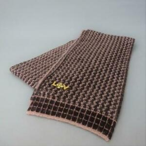 Louis Vuitton Women's Scarf Wool Brown Monogram Authentic Used Condition m396