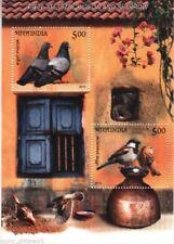"""India - """" BIRDS ~ PIGEON & SPARROW """" MNH Mini Sheet MS / SS 2010 !"""