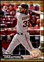 Brandon Crawford 2019 Bowman 5x7 Gold #57 /10 Giants