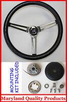 "1969-1993 Buick Skylark GS GRANT Steering Wheel Black 15"""