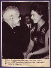1960s Original Photo TERESHKOVA 1st SOVIET WOMAN ASTRONAUT Lebanon Beirut Space