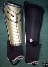 Errea Maya Shinguards, Pro Quality w/ Ankle guards,Adult size, Gold silver, New