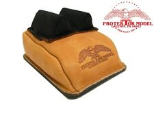 PROTEKTOR MODEL - NEW CUSTOM #14AC LEATHER RIFLE REST SAND BAG  MADE IN USA